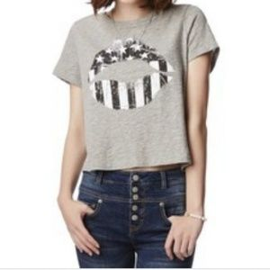 Areopostale American flag crop shirt